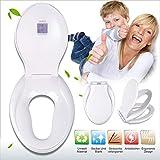 Familien Toilettensitz WC Sitz mit Integriertem Kindersitz, Humanisiertes Doppelschicht-Design Absenkautomatik Wc-Sitz Deckel
