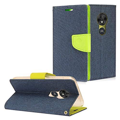 Z-GEN Klappetui für Motorola Moto G7 Play, G7 Optimo XT1952/DL, CT5 Green/Dark Blue