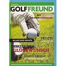 Geburtstagskarte Golffreund Mit Schwung ins neue Lebensjahr