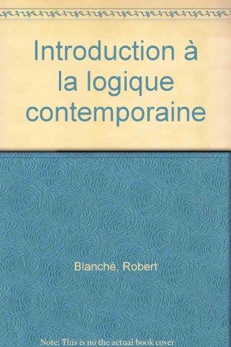 Introduction à la logique contemporaine