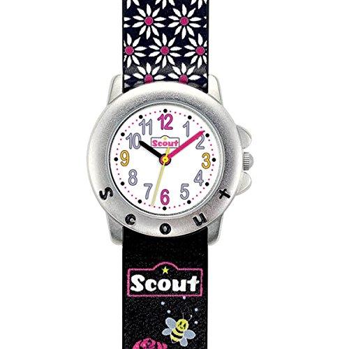 Scout Mdchen Analog Quarz Uhr mit Lederimitat Armband 280393027 - 2