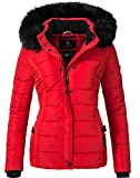 Navahoo Damen Winter Jacke Steppjacke Miamor Rot Gr. M