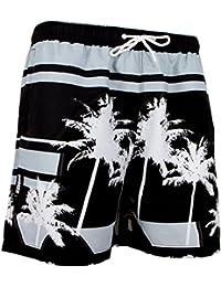 GUGGEN MOUNTAIN Maillot de bain pour homme de materiau high-tech slip shorts Palmen Beach *High Quality Print*
