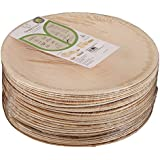 Adaaya Farms - Simply Urbane Natural Palm Leaf Round Plates - 9 Inches - Suitable For Parties And Events - Eco Friendly/Bio Degradable/Compostable