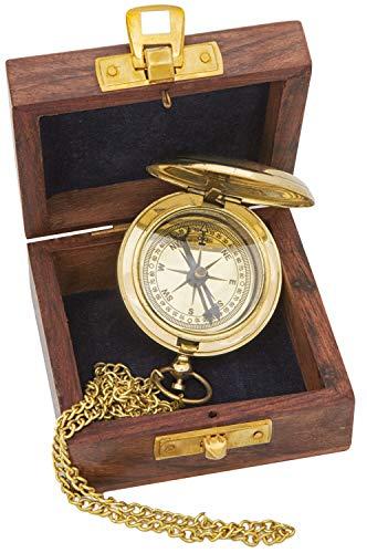 mare-me Kompass Taschenuhrform Messing