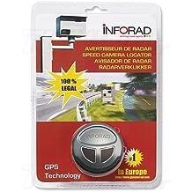 Inforad V4E - Avisador de radares GPS con soporte para batería (importado)