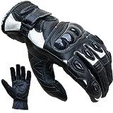 Motorradhandschuhe PROANTI Leder kurz Motorrad Handschuhe (Gr. S-XXL weiß)