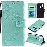 HTDELEC Custodia Samsung Galaxy A20E Verde Premium Pu Portafoglio Protettiva in Pelle,Anti-Slip...