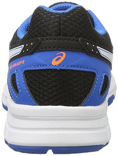 Asics Gel-Galaxy 9 Gs, Chaussures de Course pour Entraînement sur Route Mixte Enfant Noir (Black/white/electric Blue)