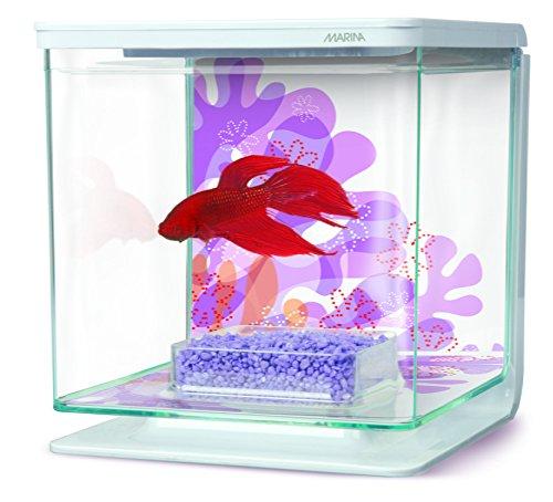 Marina Betta Kit Aquarium 2 Litre Art Retro Firework Design
