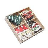 Weihnachts-Holzglasaufkleber Kühlschrankaufkleber MW06 Malloom, 20 teile/schachtel Weihnachten Holzetiketten Weihnachtswandschrank Fenster Wandaufkleber Dekor