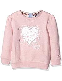 Tommy Hilfiger Heart Print Mini Cn Hwk L/S, Sweat-Shirt Fille