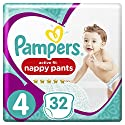 Pampers - Active Fit Pants - Couches-culottes Taille 4 (8-14 kg) - Pack Géant (x32 culottes)
