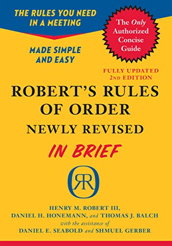 Robert's Rules of Order Newly Revised In Brief, 2nd edition (English Edition)