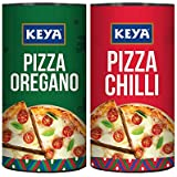 Keya Pizza Seasoning Combo | Italian Pizza Oregano x 1, 80 gm | Italian Pizza Chilli x 1, 70 gm | Pack of 2