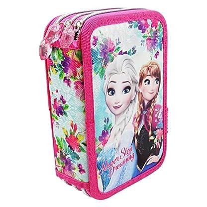 Disney Frozen Never Estuche Escolar Làpices de colores Plumier triple