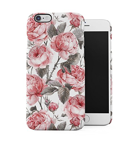 Vintage Floral Flowers Polka Dots Pattern Indie Tumblr Boho Shabby Chic Apple iPhone 6 PLUS , iPhone 6S PLUS Snap-On Hard Plastic Protective Shell Case Cover Custodia Vintage Pink Peony