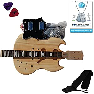 Kit di costruzione per chitarra elettrica sg costruisci for Kit di costruzione portico