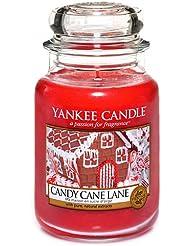 Yankee Candle 1308384E Bougie senteur Sucre d'orge en jarre 623 g Blanc