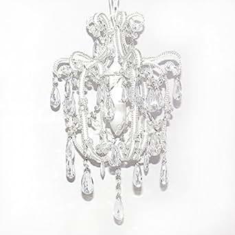 kleiner kronleuchter sophie einarmig wei mit kristallen h44cm l ster beleuchtung. Black Bedroom Furniture Sets. Home Design Ideas