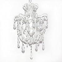 Grafelstein Sophie Lampadario con cristalli pendenti, altezza 44 cm, a un braccio, colore: bianco