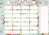 Essensplaner / Block DIN A 4 / 50 Blatt / Essensplanung für die Woch mit Einkaufsliste / Wochenplaner, Einkaufszettel / von Sophies Kartenwelt
