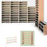Weinregal/Flaschenregal System MEDOC, Modul 2 für 48 Fl, Holz Kiefer natur, stapelbar/erweiterbar - H 87,5 x B 68 x T 27 cm