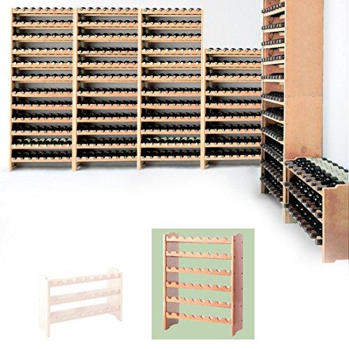 Sistema modular Botellero MEDOC, Módulo 2, pino...