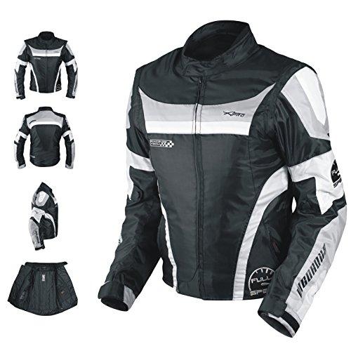 e649c434f65679 A-Pro Giacca Moto Manica Staccabile Tessuto Protezioni CE Sfoderabile Gilet  Grigio L   Prezzi e Offerte   Market Patentati