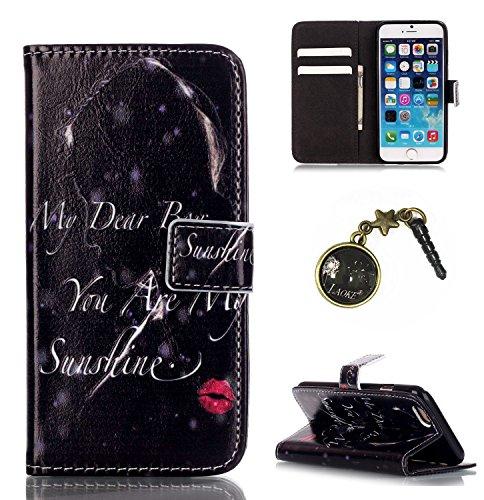 PU Silikon Schutzhülle Handyhülle Painted pc case cover hülle Handy-Fall-Haut Shell Abdeckungen für Smartphone Apple iPhone 6 6S (4.7 Zoll)+Staubstecker (Y5) 3
