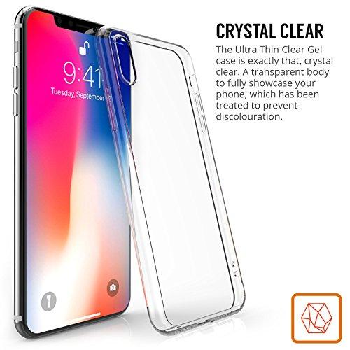 iPhone X Funda  de Centopi   Resistente a arañazos   Ultra Delgada & Ligera  SIN grosor  Funda TPU cubierta de delgada capa de silicona en la parte posterior   Claro