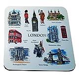 Artistico Londra souvenir bevande sottobicchieri, set di 4sottobicchieri. Artistique. /Künstlerisch. /artistico. /artístico. Dessous de Verre. /Untersetzer. Sottobicchieri/. /Posavasos.