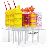 Andrew James Push Up Cake Pops Set | 12 Hüllen und Acryl-Präsentationsständer