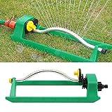 youngfate Gardena Classic Viereckregner Rasensprenger für gleichmäßigen Komfort Oszillierender Sprinkler, 18 Auslaufdüsen