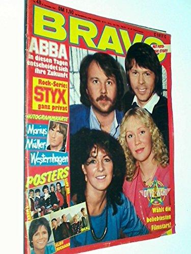 BRAVO Nr. 48/1981 Abba-Cover, Poster : Cliff Richard , Ideal, Adam Ant, 19.11.981, (Jugendzeitschrift )