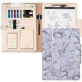 Warum wählen Sie unsere A4 Schreibmappe Konferenzmappe? ▷Multifunktion: 5 Karten-Bits, 1 Kartentaschen, 1 Tablet-Taschen, 1 Handytaschen, 1 Hecktaschen und eine Zwischenablage.▷Verwenden Sie das hochwertigste PU-Leder und die doppelte Nähte, um die F...