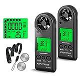 Anémomètre numérique de poche pour la mesure de la vitesse du vent, de la température et de la...