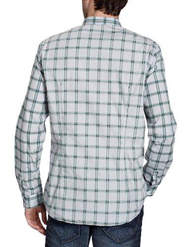 TOM TAILOR Denim Herren Freizeithemd 20171170012/aop/checked/striped shirt Grün (7281)