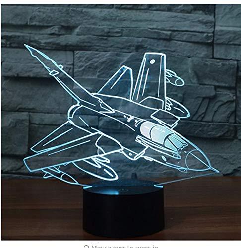 3D Led Nachtlicht Mode Fall Raketenbomber Kommen Mit 7 Farben Licht Flugzeug Flugzeuge Für Heimtextilien Lampe Erstaunliche Visualisierung Licht Box -
