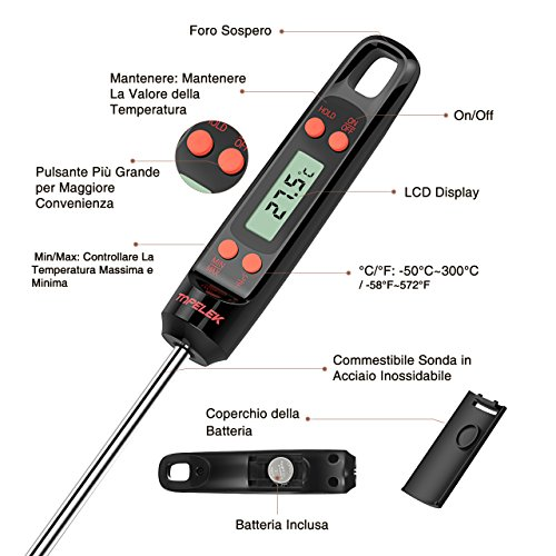 Zoom IMG-2 termometro cucina topelek digitale da