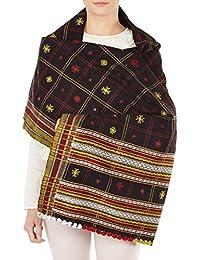 Cadeaux robes indiennes Laine Accessoires châles brodés pour l'épouse 84x36 pouces