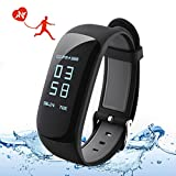 OMorc Fitness Tracker, [Connected GPS] IP67 Waterproof Big Touch Screen Heart Rate/Sleeping Monitor, Pedometer 24-Hour Auto Activity Tracker with Countdown Function, Calorie Counter for iOS iPhone Android Smart Phone