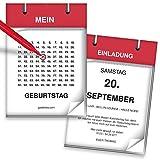 Einladungskarten Geburtstag als Kalender | 15 Stück | Kalenderblatt | Inkl. Druck Ihrer Texte | Einladungen Geburtstag | Lustige Geburtstagseinladungen | Witzige Einladungskarte | Karte Einladung