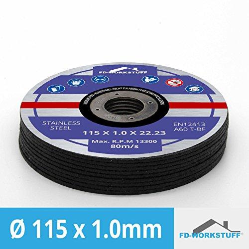 30 Stück Inox Trennscheiben Flexscheiben 115 x 1,0 mm (S/r Eisen)