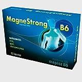 MAGNESTRONG B6 | 60 Tabletten Monatspackung| HOCHDOSIERT | VEGAN | Apotheken-Qualität | MAGNESIUM + VITAMIN B6 | Gegen Krämpfe | Zur Unterstützung der normalen Leistungsfähigkeit + Muskelfunktion | ANTI MÜDIGKEIT