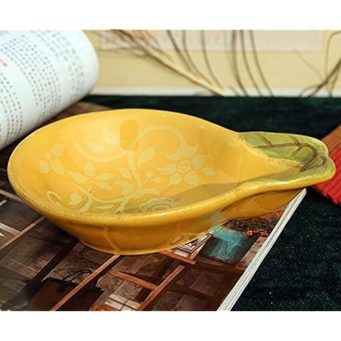 Yifom Cerámica pintada a mano tazón pequeño snack tazón de Ensaladera frutero,PEAR