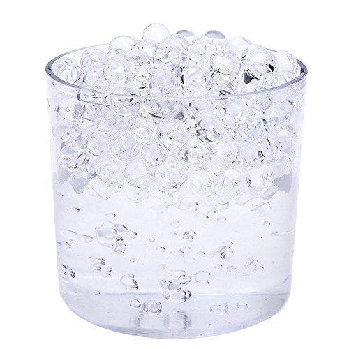 Wasser Aqua Perlen Bio Gel-Kristall Kugeln Boden Vase Hochzeit Dekoration Basteln und von trimmen Shop, Gel, Pack of 2500, Clear