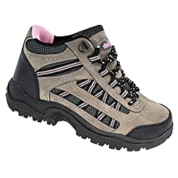 - 51dIrPTmd L - Dek Ladies Pink Grey Black Hiking Walking Trail Boots Sizes 3 to 8