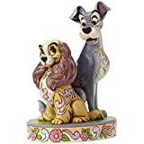 Disney Traditions Lady and The Tramp 60th Anniversary Figurine - White