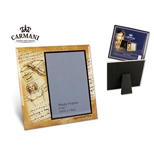 Carmani - Glas-Foto-Rahmen, Bilderrahmen Porträt Bild Landschaft Frames mit Leonardo Da Vinci